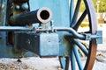 War cannon at Castello, detail, Conegliano Royalty Free Stock Photo