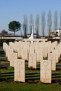War cemetery at Cassino Royalty Free Stock Images
