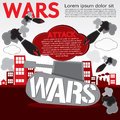 War concept illustration vector eps Royalty Free Stock Photography