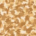 War desert camouflage seamless vector pattern