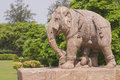 War Elephant at Konark Temple Stock Photos