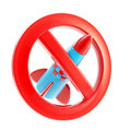 War forbidden sign icon isolated Royalty Free Stock Image