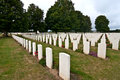 War graves rows of in normandy france Stock Photo
