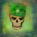 War grunge skull raster illustration Royalty Free Stock Photography