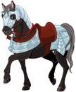 War horse illustration of black Stock Photos