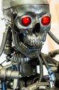War machine with red eyes Royalty Free Stock Photo