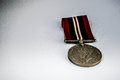 War medal old on background of white with shadows Royalty Free Stock Images