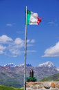 War memorial atop famous gavia high mountain pass italy Royalty Free Stock Photography