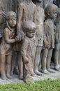 War memorial in Lidice village Royalty Free Stock Photo