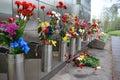 War memorial on sinyavino heights view of leningrad oblast russia Stock Photo