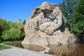 War monument in mamaev kurgan volgograd russia memorial mother s sorrow on mamayev memorial complex commemorating the battle of Royalty Free Stock Photography
