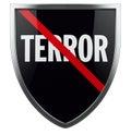 War on Terror Shield Symbol Royalty Free Stock Photo