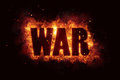 War terror terrorism fire burn flame text is explode Royalty Free Stock Photo