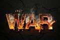 War text word on asphalt Royalty Free Stock Photos