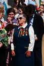 War veterans sing war songs moscow may victory day celebration in moscow Stock Images