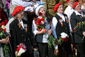 War veterans sing war songs on the theater square by the bolshoi theater traditional place for meeting taken on may in Stock Photo