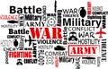 War Violence Word Cloud Vector...
