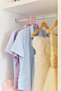 Wardrobe in the bedroom of modern apartment Royalty Free Stock Photography