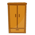 Wardrobe isolated illustration on white background Stock Photo