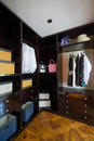 Wardrobe the with nice clothes Royalty Free Stock Photos