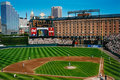 Warehouse behind oriole park at camden yards historic right field orioles image taken from color slide Royalty Free Stock Photos