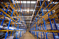 Warehouse with boxes Royalty Free Stock Photos