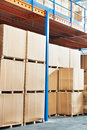 Warehouse cardboard boxes Stock Photo