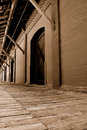 Warehouse & Dock(sepia) Royalty Free Stock Images