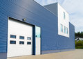 Warehouse exterior of a modern with office unit Royalty Free Stock Photos