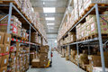 Warehouse in a factory in the industrial district of transport in rome Royalty Free Stock Photo