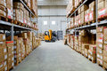 Warehouse in a factory in the industrial district of transport in rome Stock Photography