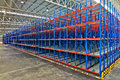 Warehouse industrial shelving storage systems Royalty Free Stock Photo