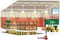 Warehouse interior view Royalty Free Stock Photo