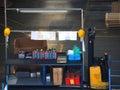 Warehouse Interior - workbench Royalty Free Stock Photo