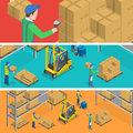 Warehouse Isometric Flat Vecto...