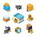Warehouse and Logistics Equipment Icon Set. Vector