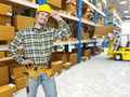 Warehouse and manual worker Royalty Free Stock Photo