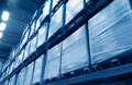 Warehouse photo of a in a low angle Royalty Free Stock Image
