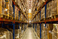 Warehouse rack of the company Royalty Free Stock Photography