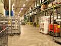 Warehouse receiving area and of a wholesale club type store Royalty Free Stock Photos