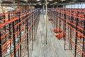 Warehouse shelving high Royalty Free Stock Photo
