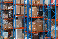 Warehouse shelving system Stock Photos