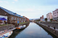 Warehouses along the famed canal in Otaru