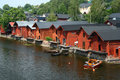Warehouses in Porvoo Royalty Free Stock Photo