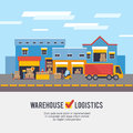 Warehousing and Logistic and Delivery vector illustration Royalty Free Stock Photo