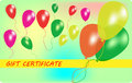 Wariant of gift certificate with balloons eps vector illustration Royalty Free Stock Image