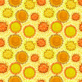 Warm colours yellow and orange Stock Photo