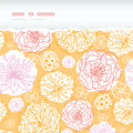 Warm day flowers horizontal decor torn seamless vector elegant pattern background with hand drawn floral elements Royalty Free Stock Photography