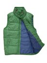 Warm green waistcoat a is on white Stock Images