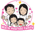 Warm hearted family consist of father mother son and daughter who love each other Royalty Free Stock Photography